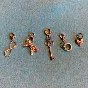✨5 Origami Owl Silver Charms✨